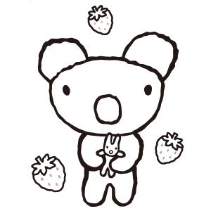 ペネロペぬりえ(ペネロペといちご)