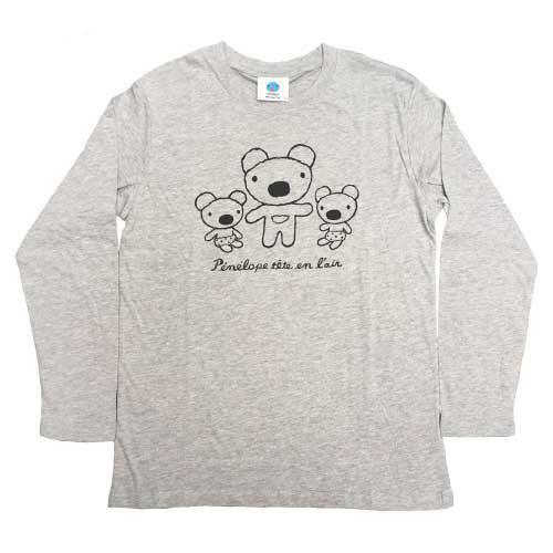 天竺ペネロペプリント長袖Tシャツ-A